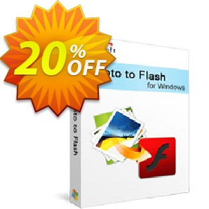 Xilisoft Photo to Flash Coupon, discount 20% off for all products. Promotion: 20% off