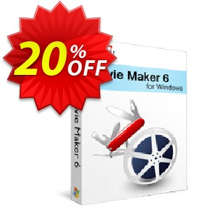 Xilisoft Movie Maker 6 Coupon, discount 20% off for all products. Promotion: 20% off