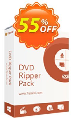 Tipard DVD Ripper Pack Lifetime License Coupon, discount 50OFF Tipard. Promotion: 50OFF Tipard