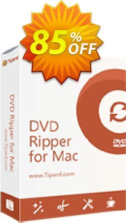 Tipard DVD Ripper for Mac One Year License Coupon, discount 50OFF Tipard. Promotion: 50OFF Tipard