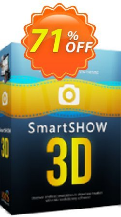 SmartSHOW 3D Deluxe - 1 year license  Coupon discount 80% OFF SmartSHOW 3D Deluxe (1 year license), verified - Staggering discount code of SmartSHOW 3D Deluxe (1 year license), tested & approved