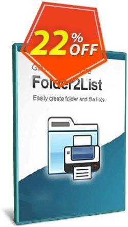 Folder2List Coupon discount Coupon code Folder2List