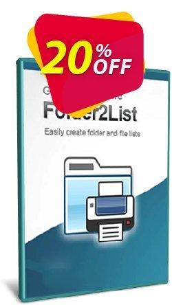 Folder2List  - 5-User License  Coupon discount Coupon code Folder2List - 5-User License