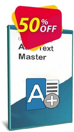 AutoText Master Coupon, discount Coupon code AutoText Master 1. Promotion: AutoText Master 1 offer from Gillmeister Software