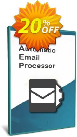 Automatic Email Processor 2 - Standard Edition - 5-User License Coupon, discount Coupon code Automatic Email Processor 2 (Standard Edition) - 5-User License. Promotion: Automatic Email Processor 2 (Standard Edition) - 5-User License offer from Gillmeister Software