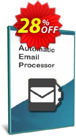 Automatic Email Processor 2 - Standard Edition - 25-User License Coupon, discount Coupon code Automatic Email Processor 2 (Standard Edition) - 25-User License. Promotion: Automatic Email Processor 2 (Standard Edition) - 25-User License offer from Gillmeister Software