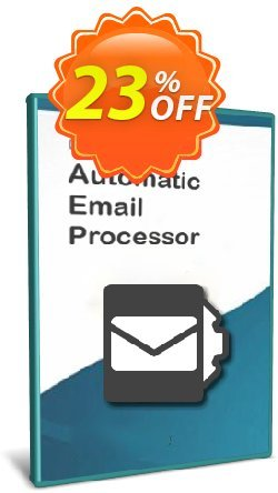 Automatic Email Processor 2 - Standard Edition - Enterprise License Coupon, discount Coupon code Automatic Email Processor 2 (Standard Edition) - Enterprise License. Promotion: Automatic Email Processor 2 (Standard Edition) - Enterprise License offer from Gillmeister Software