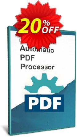 Automatic PDF Processor - 1-year license  Coupon, discount Coupon code Automatic PDF Processor (1-year license). Promotion: Automatic PDF Processor (1-year license) offer from Gillmeister Software