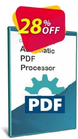 Automatic PDF Processor - 25-user license - 1 year  Coupon, discount Coupon code Automatic PDF Processor - 25-user license (1 year). Promotion: Automatic PDF Processor - 25-user license (1 year) offer from Gillmeister Software