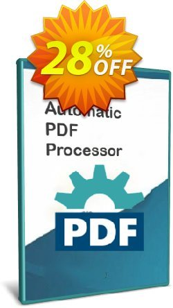 Automatic PDF Processor - Site license - 1 year  Coupon discount Coupon code Automatic PDF Processor - Site license (1 year)