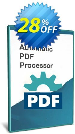 Automatic PDF Processor - 25-user license - 3 years  Coupon, discount Coupon code Automatic PDF Processor - 25-user license (3 years). Promotion: Automatic PDF Processor - 25-user license (3 years) offer from Gillmeister Software