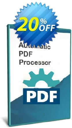 Automatic PDF Processor - Site license - 3 years  Coupon discount Coupon code Automatic PDF Processor - Site license (3 years)