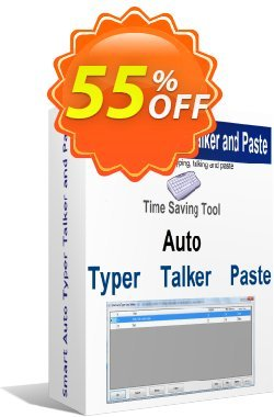 Smart Auto Typer Talker and Paste Coupon discount Coupon code Smart Auto Typer Talker and Paste. Promotion: Smart Auto Typer Talker and Paste Exclusive offer for iVoicesoft