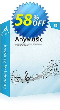 AnyMusic Monthly Coupon, discount Coupon code AnyMusic Win Monthly. Promotion: AnyMusic Win Monthly offer from Amoyshare