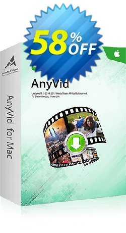 AnyVid for Mac Monthly Coupon, discount Coupon code AnyVid Mac Monthly. Promotion: AnyVid Mac Monthly offer from Amoyshare