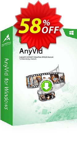 AnyVid Monthly Coupon, discount Coupon code AnyVid Win Monthly. Promotion: AnyVid Win Monthly offer from Amoyshare