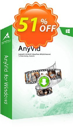 AnyVid Coupon, discount Coupon code AnyVid Win Annually. Promotion: AnyVid Win Annually offer from Amoyshare