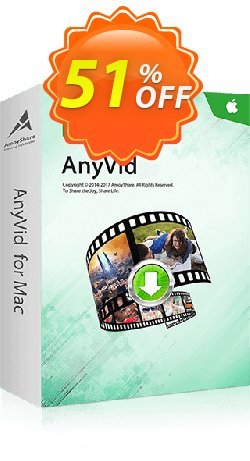 AnyVid for Mac Coupon, discount Coupon code AnyVid Mac Annually. Promotion: AnyVid Mac Annually offer from Amoyshare