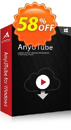 AnyUTube Monthly Coupon, discount Coupon code AnyUTube Win Monthly. Promotion: AnyUTube Win Monthly offer from Amoyshare