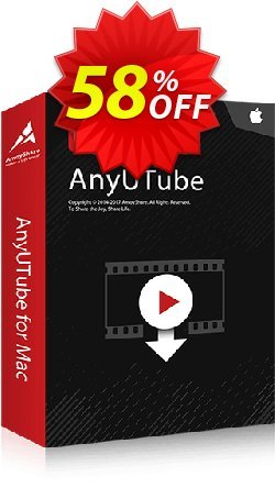AnyUTube for Mac Monthly Coupon, discount Coupon code AnyUTube Mac Monthly. Promotion: AnyUTube Mac Monthly offer from Amoyshare