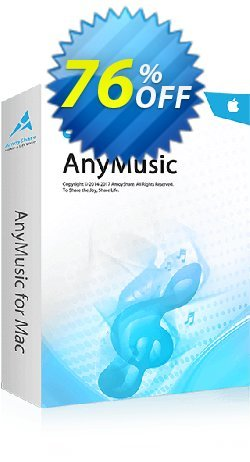 AnyMusic for Mac Lifetime Coupon, discount Coupon code AnyMusic Mac Lifetime. Promotion: AnyMusic Mac Lifetime offer from Amoyshare