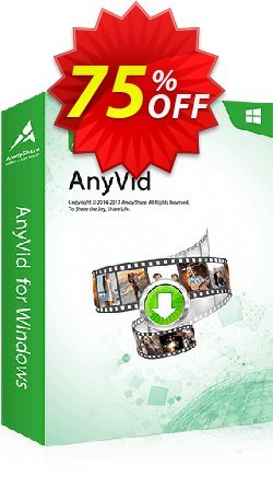 AnyVid Lifetime - 5 PCs  Coupon, discount Coupon code AnyVid Win Lifetime (5 PCs). Promotion: AnyVid Win Lifetime (5 PCs) offer from Amoyshare