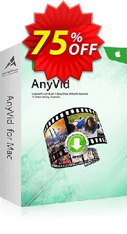 AnyVid for Mac Lifetime - 5 PCs  Coupon, discount Coupon code AnyVid Mac Lifetime (5 PCs). Promotion: AnyVid Mac Lifetime (5 PCs) offer from Amoyshare