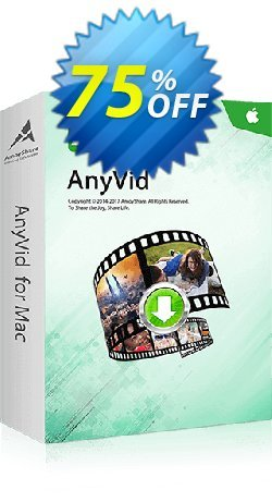 AnyVid for Mac Lifetime - 10 PCs  Coupon, discount Coupon code AnyVid Mac Lifetime (10 PCs). Promotion: AnyVid Mac Lifetime (10 PCs) offer from Amoyshare