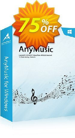 AnyMusic Lifetime - 5 PCs  Coupon, discount Coupon code AnyMusic Win Lifetime (5 PCs). Promotion: AnyMusic Win Lifetime (5 PCs) offer from Amoyshare