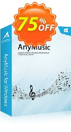 AnyMusic Lifetime - 10 PCs  Coupon, discount Coupon code AnyMusic Win Lifetime (10 PCs). Promotion: AnyMusic Win Lifetime (10 PCs) offer from Amoyshare