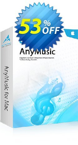 AnyMusic for Mac 6-Month Subscription Coupon, discount Coupon code AnyMusic Mac 6-Month Subscription. Promotion: AnyMusic Mac 6-Month Subscription offer from Amoyshare