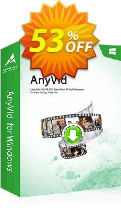 AnyVid 6-Month Subscription Coupon, discount Coupon code AnyVid Win 6-Month Subscription. Promotion: AnyVid Win 6-Month Subscription offer from Amoyshare
