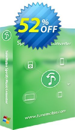 TuneMobie Spotify Music Converter - Lifetime License  Coupon, discount Coupon code TuneMobie Spotify Music Converter (Lifetime License). Promotion: TuneMobie Spotify Music Converter (Lifetime License) Exclusive offer for iVoicesoft