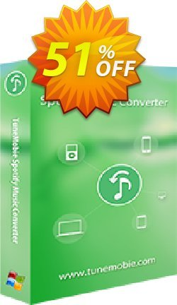 TuneMobie Spotify Music Converter - Family License  Coupon, discount Coupon code TuneMobie Spotify Music Converter (Family License). Promotion: TuneMobie Spotify Music Converter (Family License) Exclusive offer for iVoicesoft