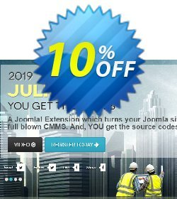 Julio CMMS for Joomla - Professional License Coupon, discount Julio CMMS for Joomla - Professional License Best deals code 2020. Promotion: Amazing promotions code of Julio CMMS for Joomla - Professional License 2020