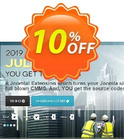 Julio CMMS for Joomla  - Enterprise License Coupon, discount Julio CMMS for Joomla  - Enterprise License Big offer code 2020. Promotion: Super sales code of Julio CMMS for Joomla  - Enterprise License 2020