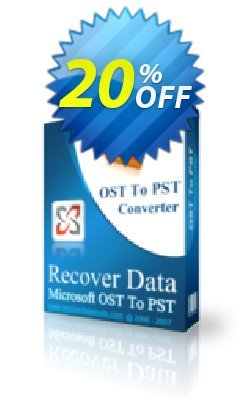 Recover Data for MS Exchange OST to MS Outlook PST - Corporate License Coupon, discount Recover Data for MS Exchange OST to MS Outlook PST - Corporate License Awesome offer code 2020. Promotion: Awesome offer code of Recover Data for MS Exchange OST to MS Outlook PST - Corporate License 2020