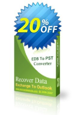 Recover Data for Exchange EDB to Outlook PST - Corporate License Coupon, discount Recover Data for Exchange EDB to Outlook PST - Corporate License Dreaded discount code 2020. Promotion: Dreaded discount code of Recover Data for Exchange EDB to Outlook PST - Corporate License 2020