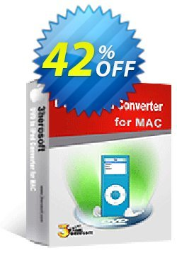 3herosoft DVD to iPod Converter for Mac Coupon, discount 3herosoft DVD to iPod Converter for Mac Stunning discount code 2020. Promotion: Stunning discount code of 3herosoft DVD to iPod Converter for Mac 2020