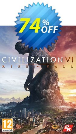 Sid Meier's Civilization VI 6 PC - Rise and Fall DLC - EU  Coupon, discount Sid Meier's Civilization VI 6 PC - Rise and Fall DLC (EU) Deal. Promotion: Sid Meier's Civilization VI 6 PC - Rise and Fall DLC (EU) Exclusive offer for iVoicesoft