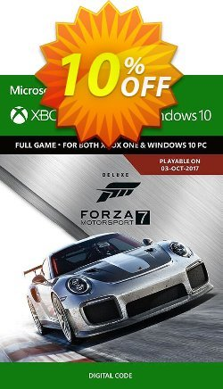 Forza Motorsport 7: Deluxe Edition Xbox One/PC Coupon discount Forza Motorsport 7: Deluxe Edition Xbox One/PC Deal - Forza Motorsport 7: Deluxe Edition Xbox One/PC Exclusive offer for iVoicesoft