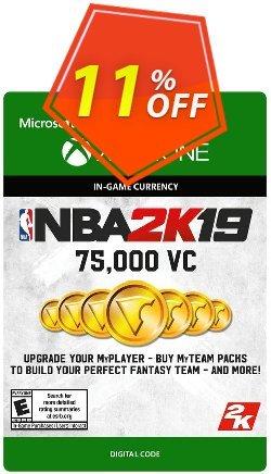 NBA 2K19: 75,000 VC Xbox One Coupon discount NBA 2K19: 75,000 VC Xbox One Deal - NBA 2K19: 75,000 VC Xbox One Exclusive offer for iVoicesoft