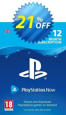PlayStation Now 12 Month Subscription - UK  Coupon discount PlayStation Now 12 Month Subscription (UK) Deal - PlayStation Now 12 Month Subscription (UK) Exclusive offer for iVoicesoft