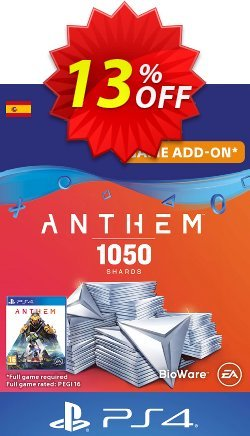Anthem 1050 Shards PS4 - Spain  Coupon discount Anthem 1050 Shards PS4 (Spain) Deal - Anthem 1050 Shards PS4 (Spain) Exclusive offer for iVoicesoft