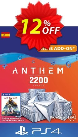 Anthem 2200 Shards PS4 - Spain  Coupon discount Anthem 2200 Shards PS4 (Spain) Deal - Anthem 2200 Shards PS4 (Spain) Exclusive offer for iVoicesoft