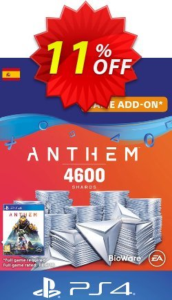 Anthem 4600 Shards PS4 - Spain  Coupon discount Anthem 4600 Shards PS4 (Spain) Deal - Anthem 4600 Shards PS4 (Spain) Exclusive offer for iVoicesoft