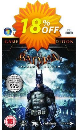 Batman : Arkham Asylum - Game Of The Year Edition - PC  Coupon, discount Batman : Arkham Asylum - Game Of The Year Edition (PC) Deal. Promotion: Batman : Arkham Asylum - Game Of The Year Edition (PC) Exclusive offer for iVoicesoft