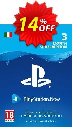 PlayStation Now 3 Month Subscription - Italy  Coupon discount PlayStation Now 3 Month Subscription (Italy) Deal - PlayStation Now 3 Month Subscription (Italy) Exclusive offer for iVoicesoft
