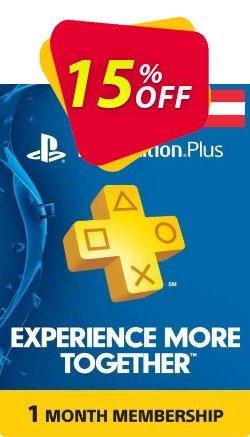 Playstation Plus - 1 Month Subscription - Austria  Coupon discount Playstation Plus - 1 Month Subscription (Austria) Deal - Playstation Plus - 1 Month Subscription (Austria) Exclusive offer for iVoicesoft