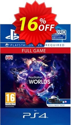 PlayStation VR Worlds PS4 Coupon discount PlayStation VR Worlds PS4 Deal - PlayStation VR Worlds PS4 Exclusive offer for iVoicesoft